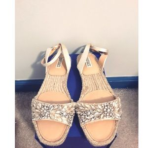 Badgley Mischka Jeweled Espadrille